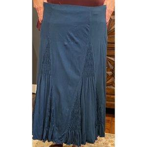Navy cotton maxi skirt from J.Jill